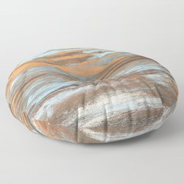 Vintage Wood With Color Splashes Floor Pillow