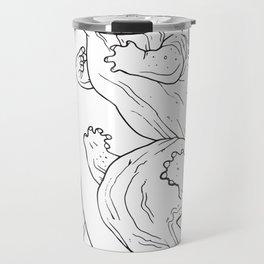 Eastern Hellbender Outline Travel Mug