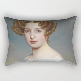 Portrait of Elise Dorothea Friederike by Ernst Thelott Rectangular Pillow