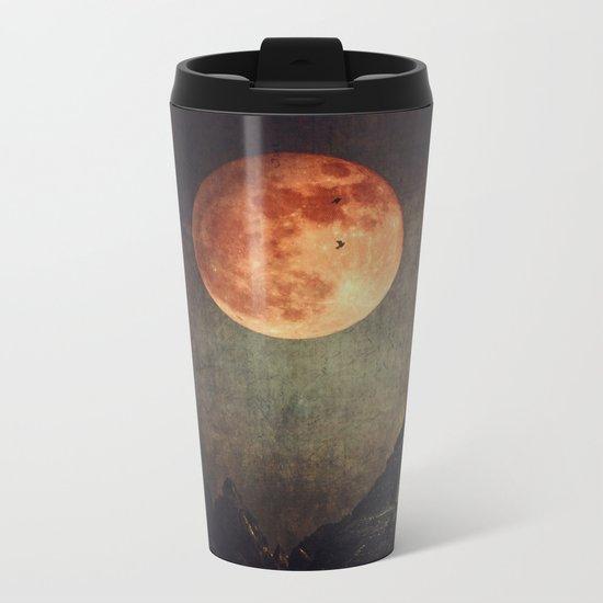 Moon over Dark Mountains Metal Travel Mug