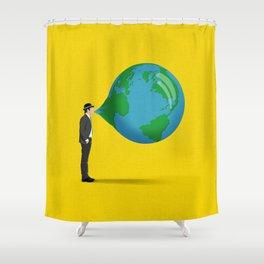 Don't Blow It Shower Curtain