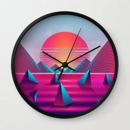 Lucid Sunset Dreams Wall Clock