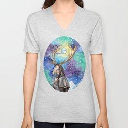 witchy moon Unisex V-Neck
