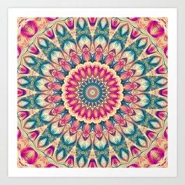 Flower Of Life Mandala (Summer Daisy) Art Print
