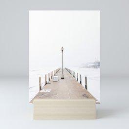 Snowy Lake Michigan Pier Mini Art Print