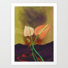 Last Flowers Before the Volcano Art Print