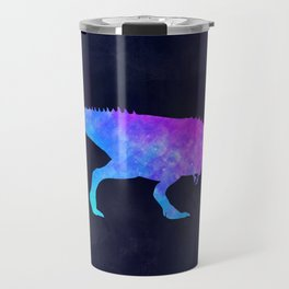 T-REX IN SPACE // Dinosaur Graphic Art // Watercolor Canvas Painting // Modern Minimal Cute Travel Mug