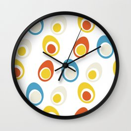 Vintage eggs Wall Clock