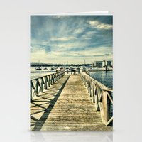 boardwalk empire Stationery Cards featuring Boardwalk by Steve Purnell
