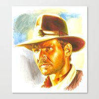 indiana jones Canvas Prints featuring Indiana Jones by Illusoryart
