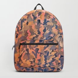 Abstract Seamless Shagpile Pale Blue and Peach Backpack