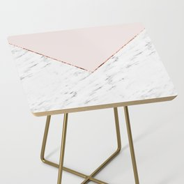 Peony blush geometric marble Side Table