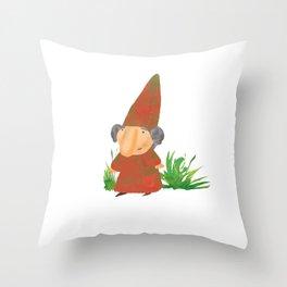 Wilhelmina the Gnome Throw Pillow