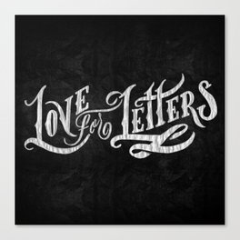 Love for Letters Canvas Print