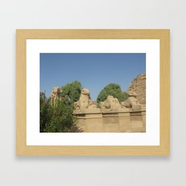 The Avenue of Sphinxes Framed Art Print
