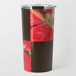 Mottled Red Poinsettia 1 Ephemeral Blank Q3F0 Travel Mug