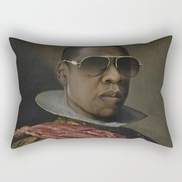 Portrait of Jay Z in Armor Rectangular Pillow