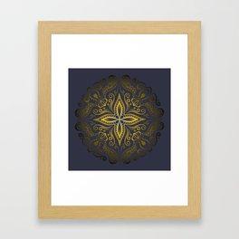 Mandala golden 2 Framed Art Print