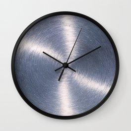 Silver Metallic Stainless Steel Pattern Wall Clock