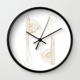 Fancy N Wall Clock