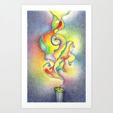 Magic Smoke Art Print