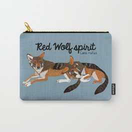 Red Wolf Spirit #1 Carry-All Pouch