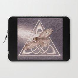 Great Horned Owl Over Celtic Triskeles Laptop Sleeve