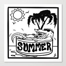 Summer Gator Days Canvas Print