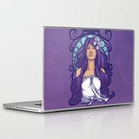 nouveau Laptop & iPad Skins featuring Iris Nouveau by Karen Hallion Illustrations