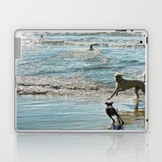 Blue and Silver Laptop & iPad Skin
