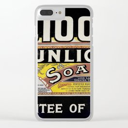 Vintage Advertising Clear iPhone Case