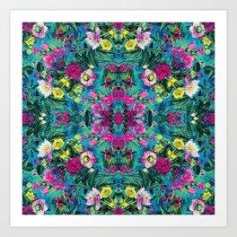 Neon Floral Art Print