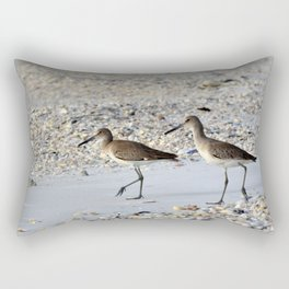 Willets in the Winter Rectangular Pillow