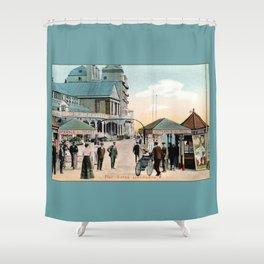 Pier Gates Llandudno Wales 1890 Shower Curtain