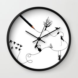 Way of the pencil Wall Clock