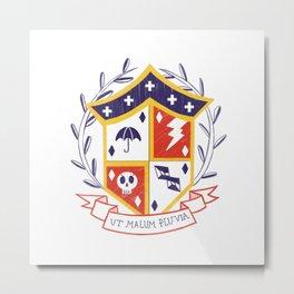 The Umbrella Academy Shield Metal Print