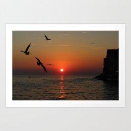 Sunset in Rovinj, Croatia - summer vibes Art Print