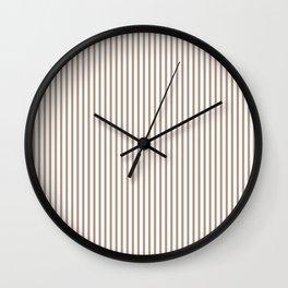 Warm Taupe Stripes Wall Clock