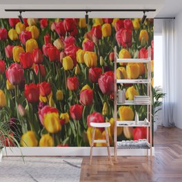 Peace, Love And Tulips Wall Mural