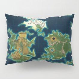 Final Fantasy VII - Shinra Airways World Map Pillow Sham