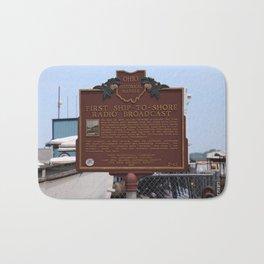 First Ship-to-Shore Radio Broadcast Bath Mat