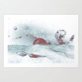 Pink Moon Mountain Art Print