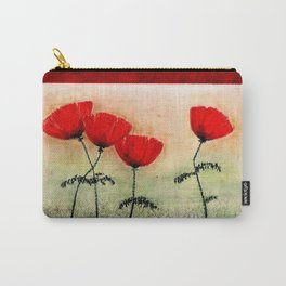 My Lovely Poppies Carry-All Pouch