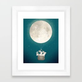 moon bunnies Framed Art Print