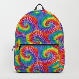 Tie-Dye Hexagon Colorful Pattern Backpack