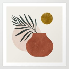 palm and vase Art Print