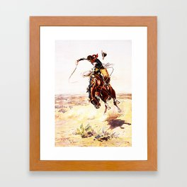 A Bad Hoss Framed Art Print