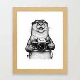 Little photographer Framed Art Print