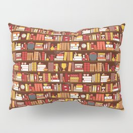 Book Case Pattern - Red and Gold Pillow Sham