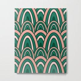 Rainbow Rows (Thrive) Metal Print